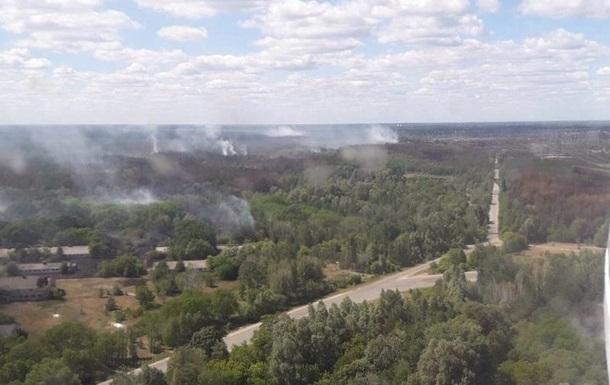 Под Чернобылем третьи сутки не могут потушить лес