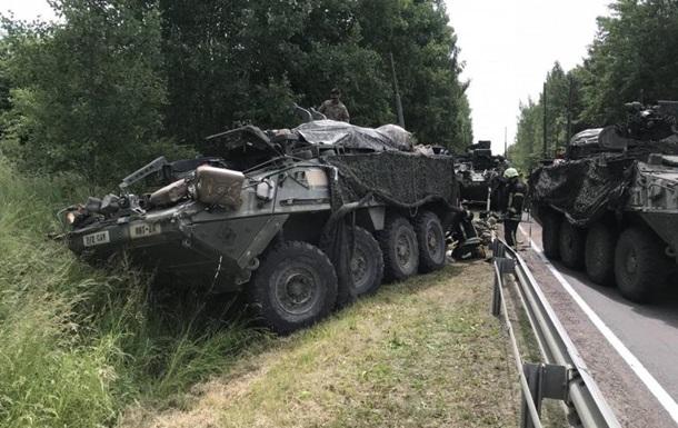 В Литве столкнулись броневики США: 13 пострадавших