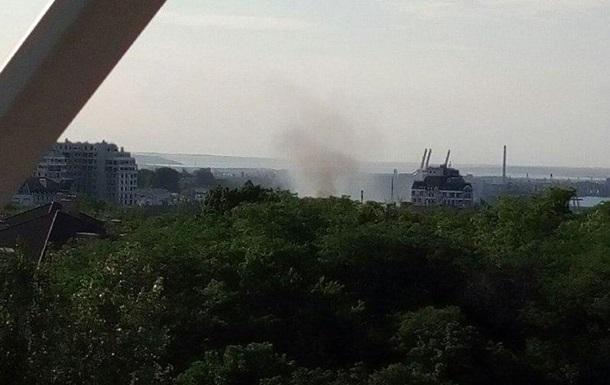 В центре Одессы горит училище