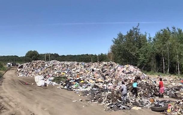 Во Львове образовалась огромная мусорная свалка