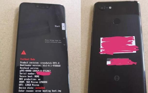 В Сети появились фото флагмана Google Pixel 3 XL