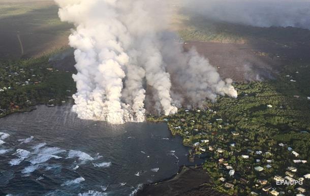 НаГавайях вулкан создал полтора километра суши ипродолжает извержение