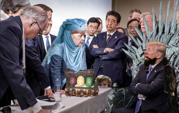 Фото Меркель и Трампа на G7 превратили в мем