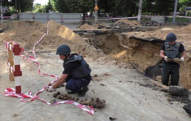 У Чернігові в котловані знайшли 33 міни часів Другої світової