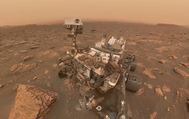 Марсоход Curiosity показал селфи на фоне бури