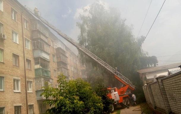 Пожар в многоэтажке Броваров ликвидирован