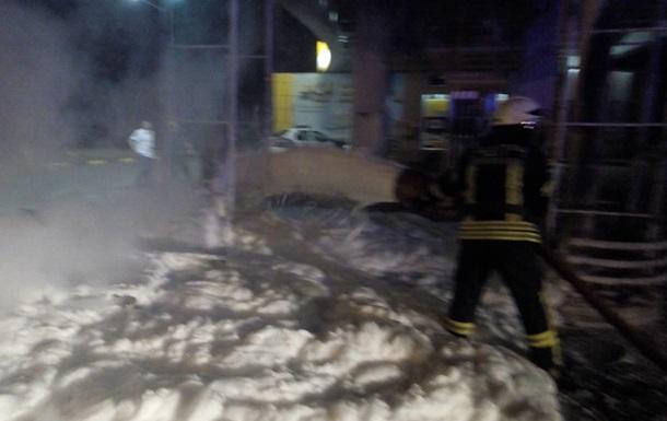 Под Киевом взорвалась АЗС из-за водителя