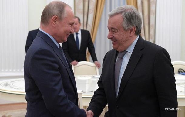 У Кремлі розповіли про переговори Путіна з главою ООН