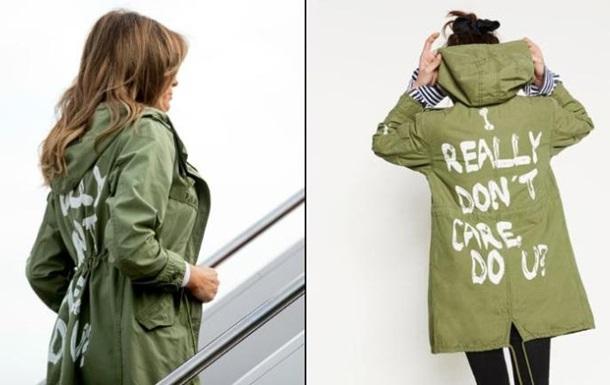 Меланію Трамп розкритикували за напис на куртці