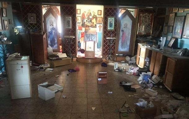 В Одесі розгромили храм на Західному кладовищі