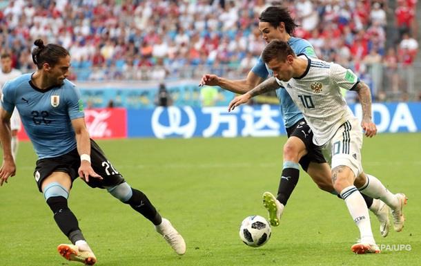 ФІФА оштрафувала РФ за банер на матчі Росія-Уругвай