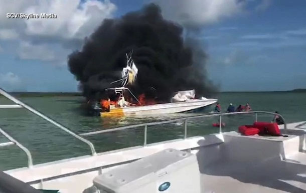 На Багамах взорвался катер с туристами