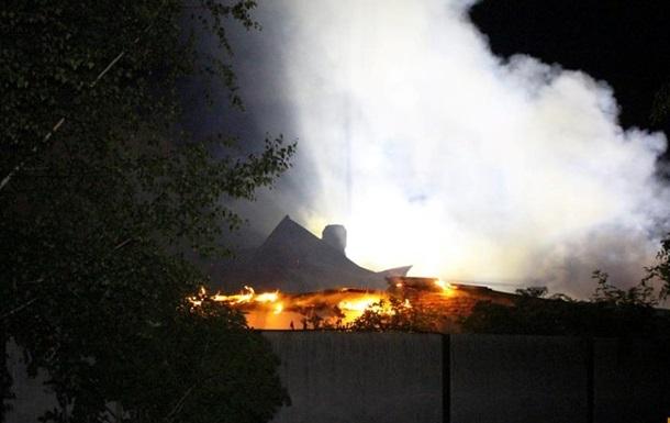 На Тернопільщині сталася масштабний пожежа на складах зернових