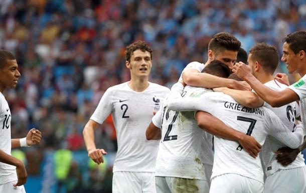 ЧС-2018: Уругвай - Франція 0:2. Онлайн