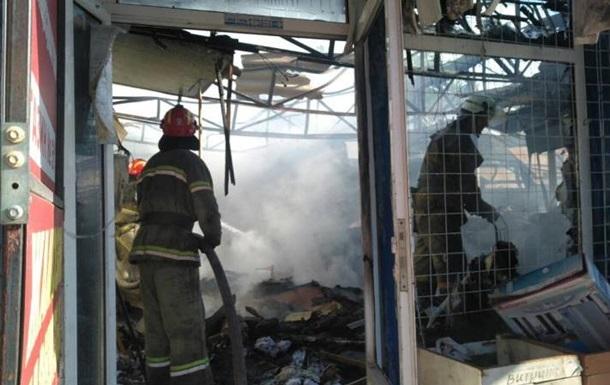 У центрі Слов янська горів ринок, є постраждалі
