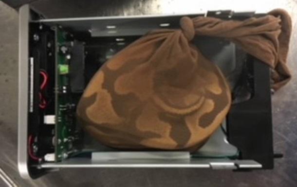 Женщина спрятала питона внутри жесткого диска