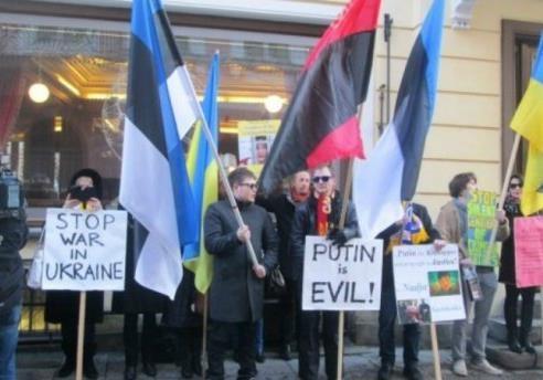 Путін – зло : в Естонії пройшла акція на підтримку Сенцова