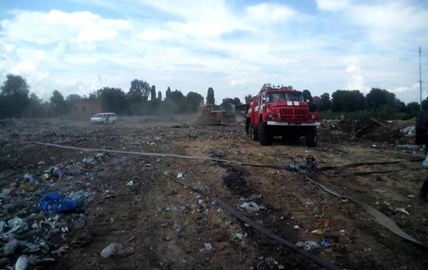 В Полтавской области горит свалка