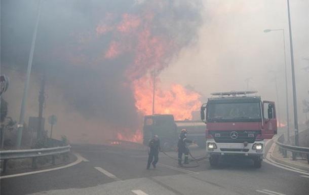 В Греции масштабный лесной пожар