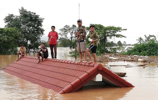 Власти сообщили  осотнях пропавших после прорыва плотины вЛаосе