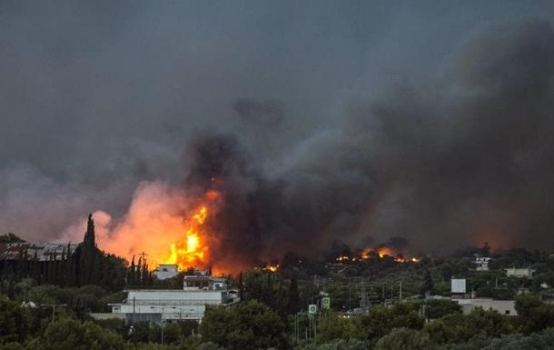 Пожежа в Греції: кількість жертв збільшилася до 60