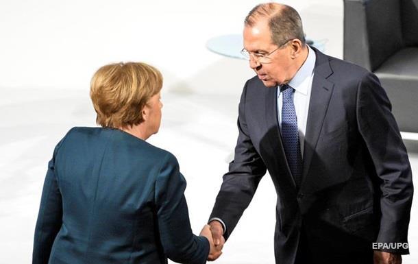 Лавров зустрівся з Меркель заради України та Сирії