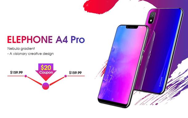 Elephone А4 Pro - неприлично дешевый смартфон с вырезом на экране