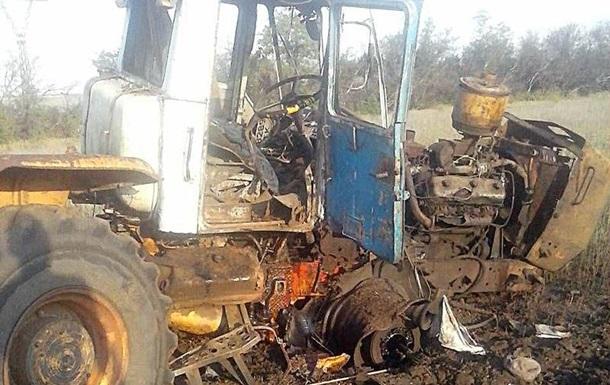 На Донбассе при взрыве пострадал тракторист