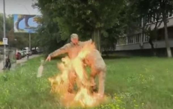 Самоспалення біля будівлі Міноборони: колишній військовий не отримав опіків