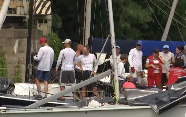 На Киевском море во время парусной регаты погиб яхтсмен