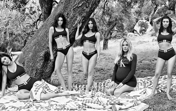 Сестры Кардашьян разделись для съемки Calvin Klein