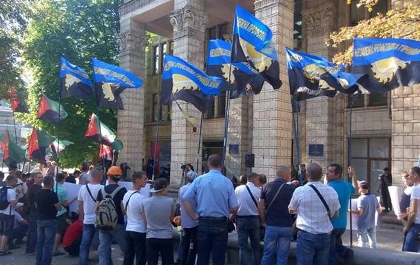 Шахтарі пікетують Міненерговугілля в Києві