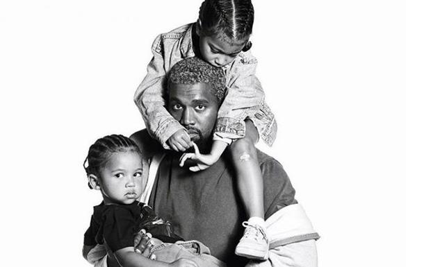 Каньє Вест з дітьми опинився на обкладинці глянцю