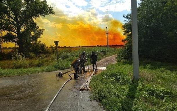 Під Дніпром стався витік азотної кислоти