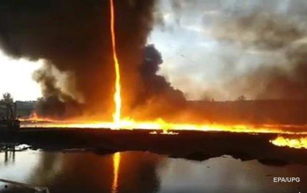Вогняний торнадо зняли на відео