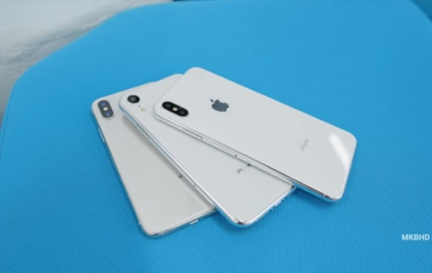 Новые iPhone X показали на видео
