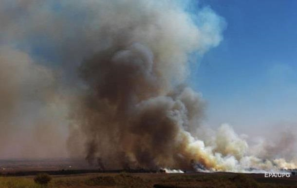 В Эстонии горит полигон с боеприпасами