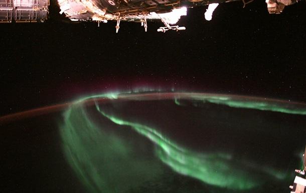 Захопливе північне сяйво зняли з МКС