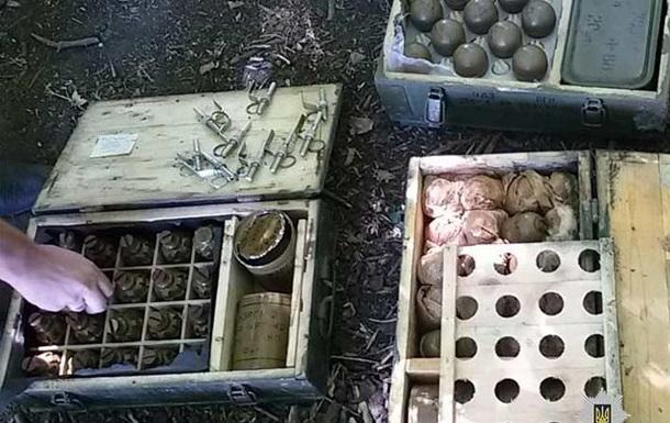 У Дніпропетровській області знайшли схованку зі зброєю