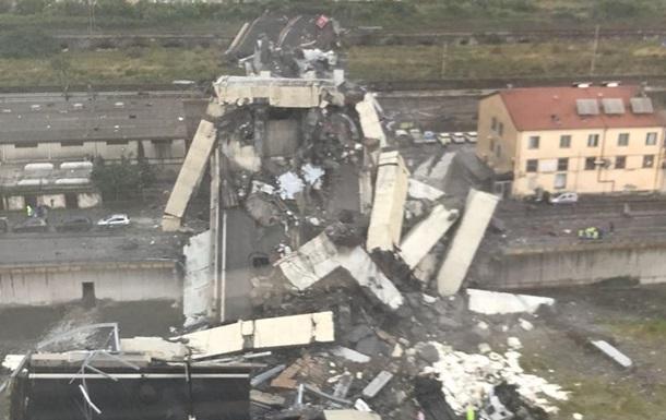 В Генуе обрушился мост с автомобилями