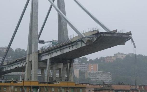 З явилося відео обвалення моста в Італії