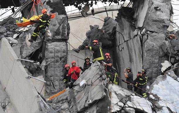 Названо кількість загиблих внаслідок обвалення моста в Генуї