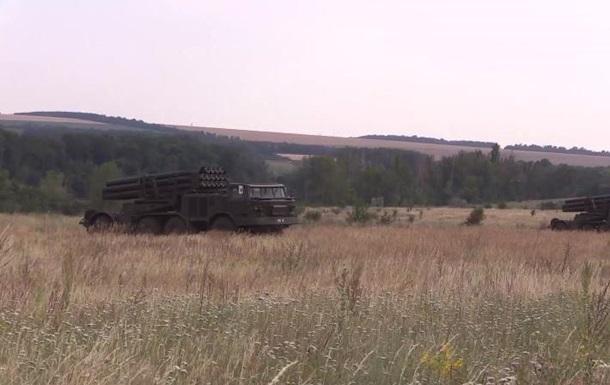 Військові перевірили боєготовність реактивної артилерії