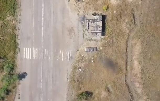 Ярош показав відео удару по позиціях сепаратистів