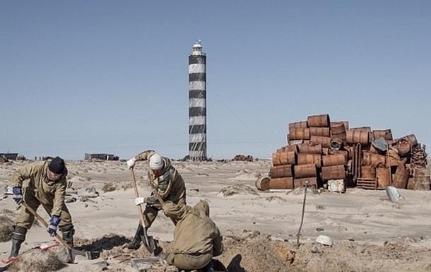 На необитаемом острове собрали 120 тонн металлолома