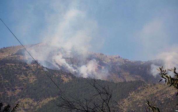 У Криму знову загорівся природний заповідник