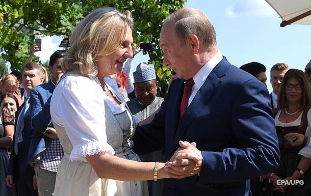 Путин посетил свадьбу главы МИД Австрии