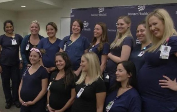 В клинике  вСША одновременно забеременели 16 медсестер