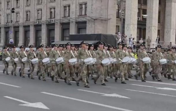 З явилося відео репетиції військового параду на Хрещатику