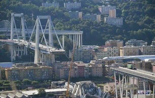 Появилось новое видео обрушения моста в Генуе